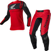 Fox Racing 2021 Flexair Honda Motocross Jersey & Pants Flame Red Kit