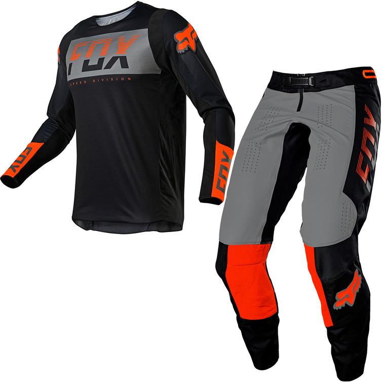 Fox Racing 2021 360 Afterburn Motocross Jersey & Pants Black Kit