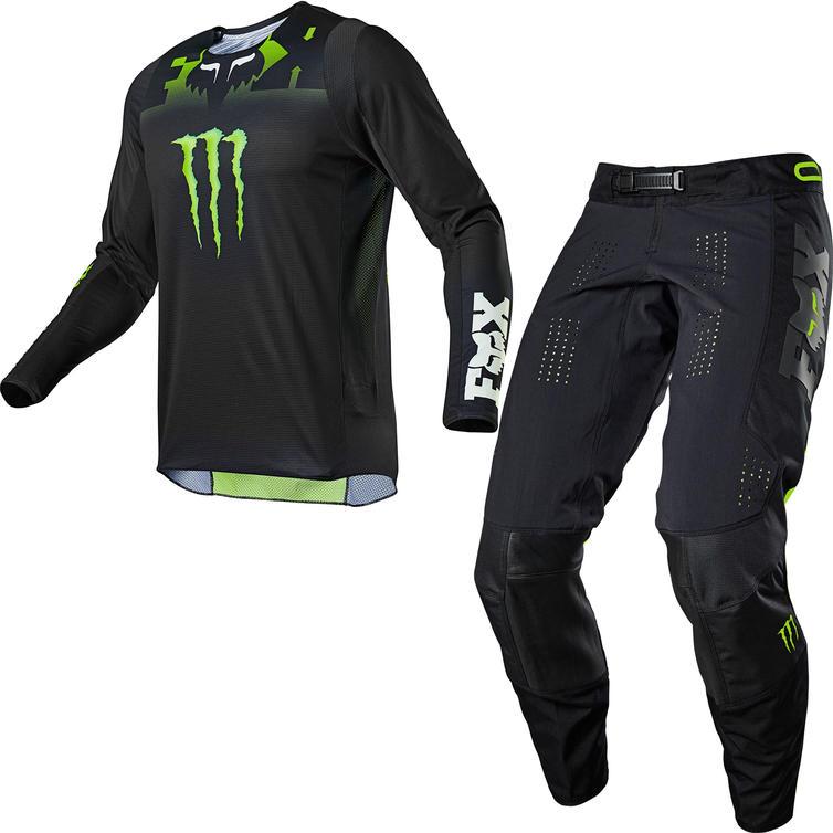 Fox Racing 2021 360 Monster Motocross Jersey & Pants Black Kit