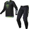 Fox Racing 2021 360 Monster Motocross Jersey & Pants Black Kit Thumbnail 1