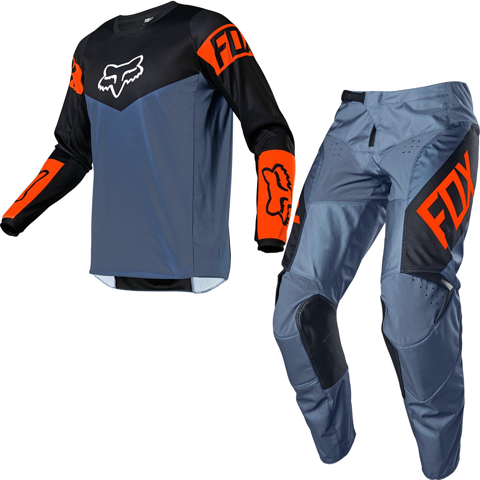 Fox Racing 2021 180 Revn Motocross Jersey Pants Blue Steel Kit New Arrivals Ghostbikes Com