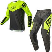 Fox Racing 2021 180 REVN Motocross Jersey & Pants Fluo Yellow Kit