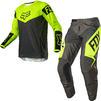 Fox Racing 2021 180 REVN Motocross Jersey & Pants Fluo Yellow Kit Thumbnail 1