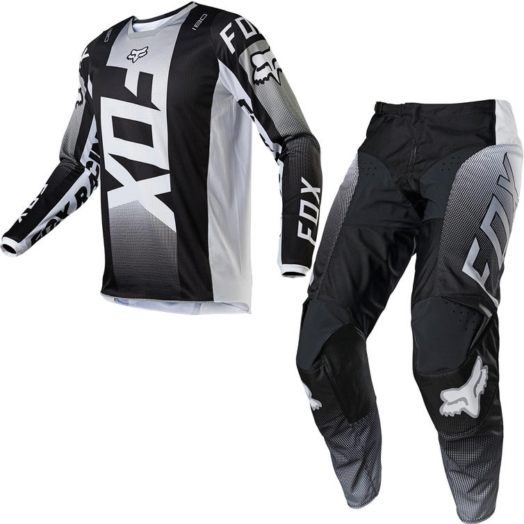 Fox Racing 2021 180 Oktiv Motocross Jersey & Pants Black White Kit