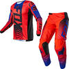 Fox Racing 2021 180 Oktiv Motocross Jersey & Pants Fluo Red Kit Thumbnail 3