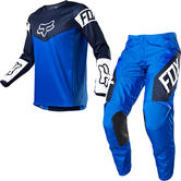Fox Racing 2021 Youth 180 REVN Motocross Jersey & Pants Blue Kit
