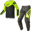 Fox Racing 2021 Youth 180 REVN Motocross Jersey & Pants Fluo Yellow Kit Thumbnail 1