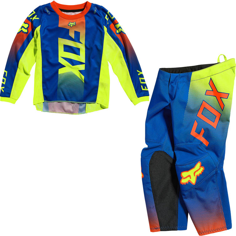 Fox Racing 2021 Kids 180 Oktiv Motocross Jersey & Pants Blue Kit