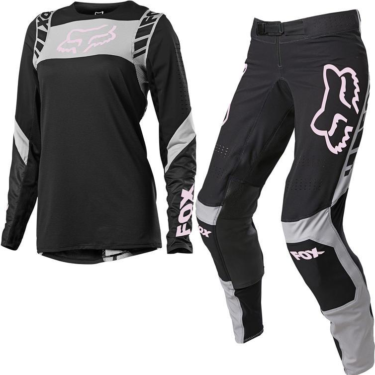 Fox Racing 2021 Ladies Flexair Mach One Motocross Jersey & Pants Black Kit