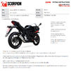 Scorpion Red Power Full System Black Ceramic Exhaust - Suzuki GSX-R 125 2017 - 2020 Thumbnail 10