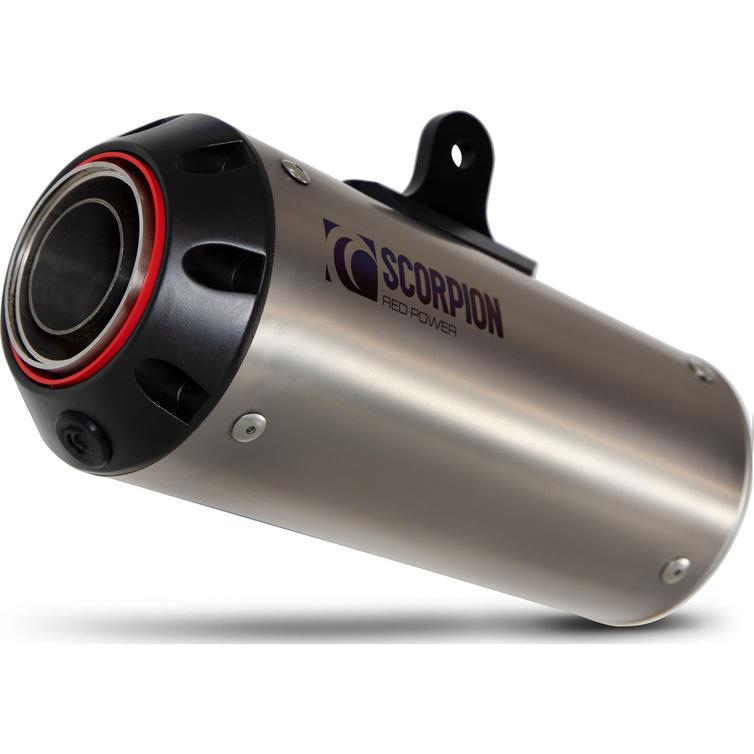Scorpion Red Power Full System Satin Titanium Exhaust - Suzuki GSX-S 125 2017 - 2020