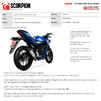 Scorpion Red Power Full System Satin Titanium Exhaust - Suzuki GSX-S 125 2017 - 2020 Thumbnail 10