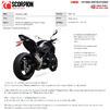Scorpion Red Power Black Ceramic Slip-On Exhaust - Kawasaki Z900 (Euro 5) 2020 Thumbnail 11