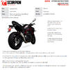 Scorpion Red Power Stainless Steel Slip-On Exhaust - Kawasaki Z H2 2020 Thumbnail 11