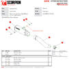 Scorpion Red Power Stainless Steel Slip-On Exhaust - Kawasaki Z H2 2020 Thumbnail 10