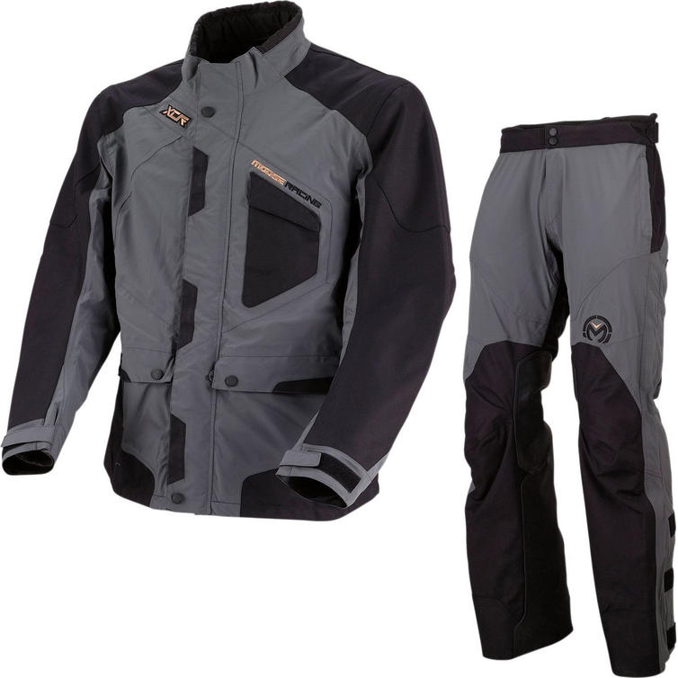 Moose Racing XCR Motocross Jacket & Pants Grey Black Kit