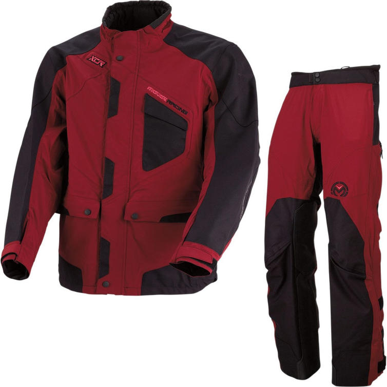 Moose Racing XCR Motocross Jacket & Pants Maroon Black Kit