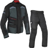 Oxford Quebec 1.0 Motorcycle Jacket & Trousers Tech Grey/Tech Black Kit