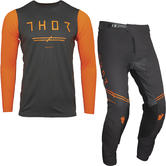 Thor Prime Pro Unrivaled Motocross Jersey & Pants Charcoal Fluo Orange Kit
