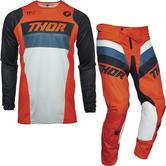 Thor Pulse Racer Motocross Jersey & Pants Orange Midnight Kit