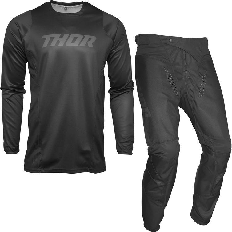 Thor Pulse Blackout Motocross Jersey & Pants Blackout Kit