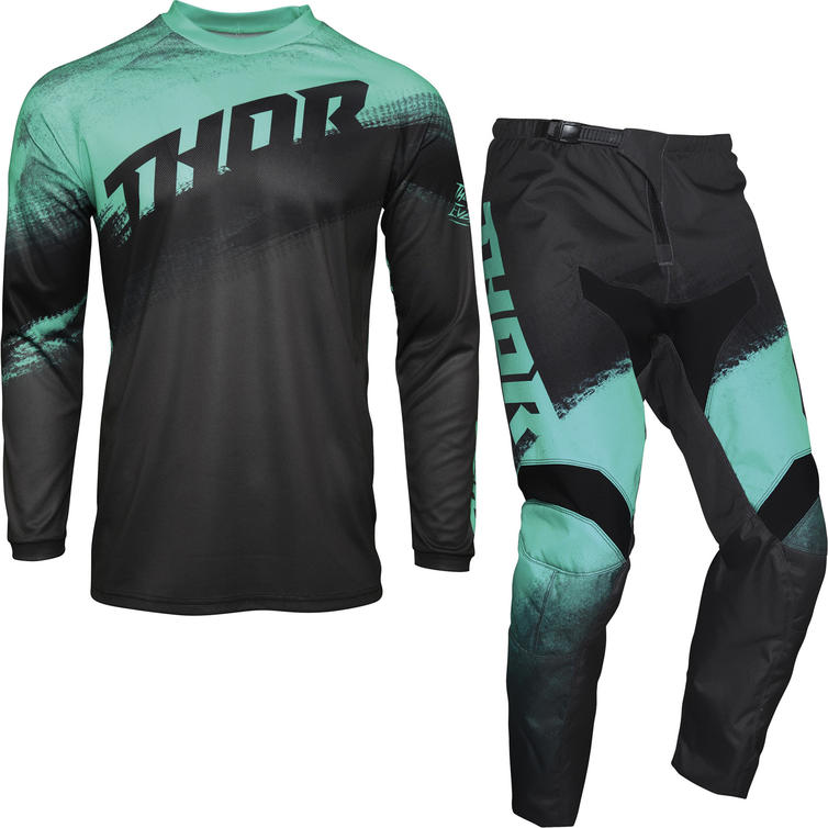 Thor Sector Vapor Motocross Jersey & Pants Mint Charcoal Kit