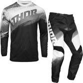 Thor Sector Vapor Motocross Jersey & Pants Black White Kit