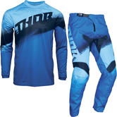 Thor Sector Vapor Youth Motocross Jersey & Pants Blue Midnight Kit