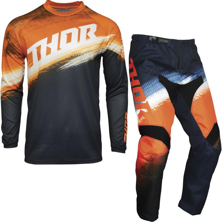 Thor Sector Vapor Youth Motocross Jersey & Pants Orange Midnight Kit