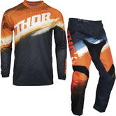 Thor Sector Vapor Youth Motocross Jersey & Pants Orange Midnight Kit