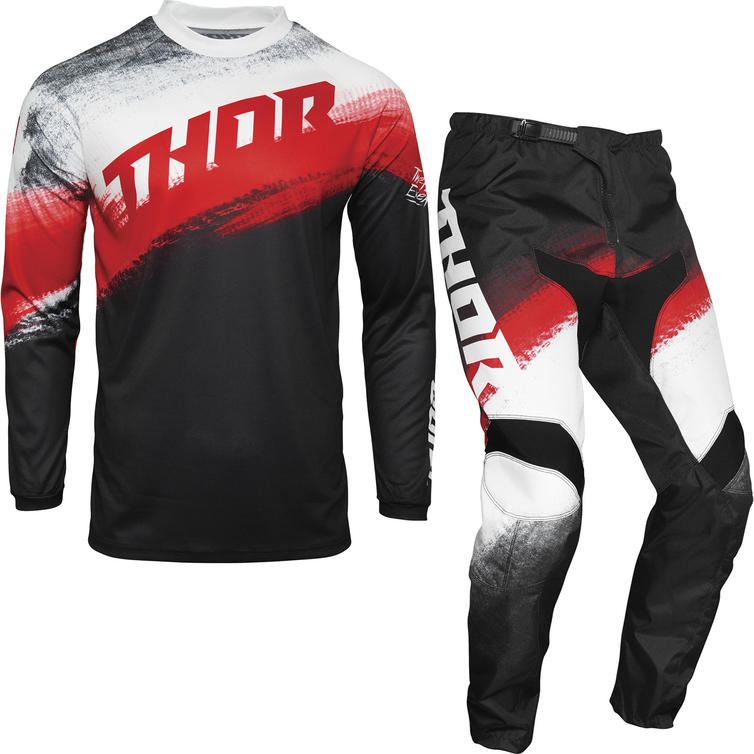 Thor Sector Vapor Youth Motocross Jersey & Pants Red Black Kit