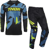 Thor Sector Warship Motocross Jersey & Pants Blue Acid Kit