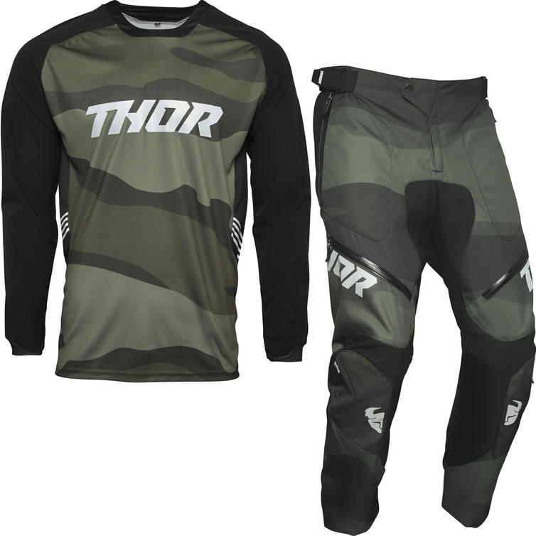 Thor Terrain Off-Road Jersey & Pants Green Camo Kit