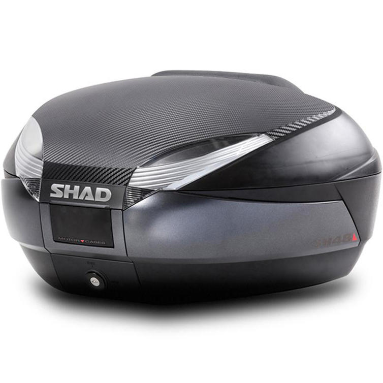 Shad SH48 Top Case 48L Dark Grey with Backrest and Carbon Cover