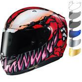 HJC RPHA 11 Carnage Marvel Motorcycle Helmet & Visor