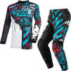Oneal Element 2021 Ride Youth Motocross Jersey & Pants Black Blue Kit Thumbnail 3