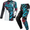 Oneal Element 2021 Ride Youth Motocross Jersey & Pants Black Blue Kit Thumbnail 2