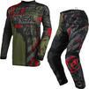 Oneal Element 2021 Ride Motocross Jersey & Pants Black Green Kit Thumbnail 3