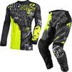 Oneal Element 2021 Ride Motocross Jersey & Pants Black Neon Yellow Kit Thumbnail 3