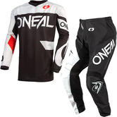Oneal Element 2021 Racewear Motocross Jersey & Pants Black White Kit