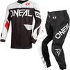 Oneal Element 2021 Racewear Motocross Jersey & Pants Black White Kit Thumbnail 3