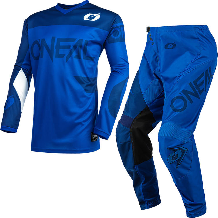 Oneal Element 2021 Racewear Motocross Jersey & Pants Blue Kit