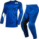 Oneal Element 2021 Racewear Motocross Jersey & Pants Blue Kit
