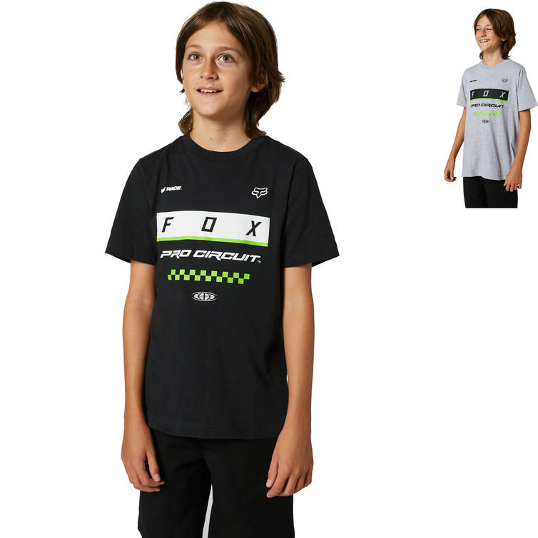 Fox Racing Pro Circuit Block Youth Short Sleeve T-Shirt