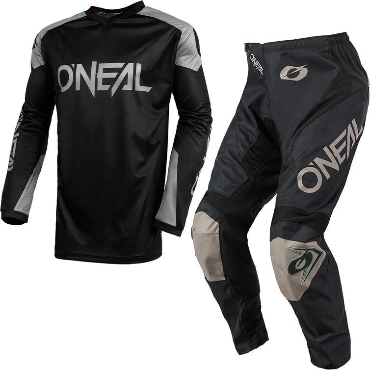Oneal Matrix 2021 Ridewear Motocross Jersey & Pants Black Grey Kit