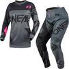 Oneal Element 2021 Racewear Ladies Motocross Jersey & Pants Grey Pink Kit Thumbnail 1