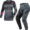 Oneal Element 2021 Racewear Ladies Motocross Jersey & Pants Grey Pink Kit Thumbnail 2
