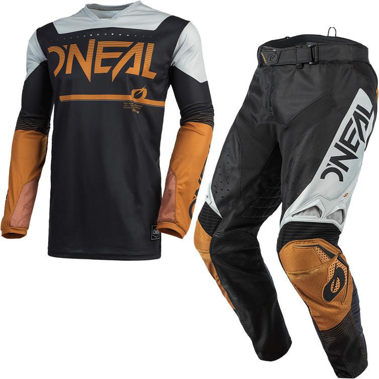 Oneal Hardwear 2021 Surge Motocross Jersey & Pants Black Brown Kit