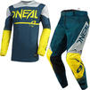 Oneal Hardwear 2021 Surge Motocross Jersey & Pants Blue Grey Kit Thumbnail 1
