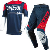 Oneal Hardwear 2021 Surge Motocross Jersey & Pants Blue Red Kit
